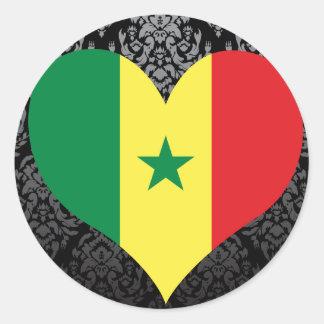 Buy Senegal Flag Classic Round Sticker