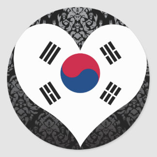 Buy South Korea Flag Classic Round Sticker