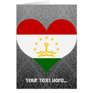 Buy Tajikistan Flag Greeting Card