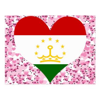 Buy Tajikistan Flag Postcard