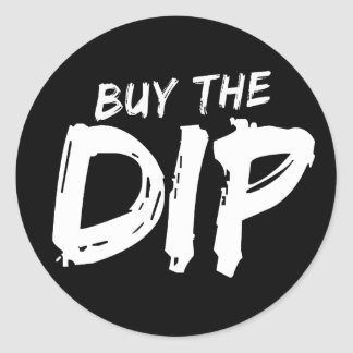 Buy the Dip White Print Sticker