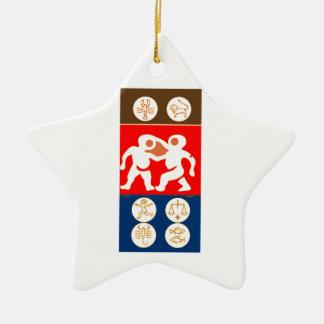 Buy to DISPLAY n ENJOY : ZODIAC ART SYMBOLS Ceramic Star Decoration