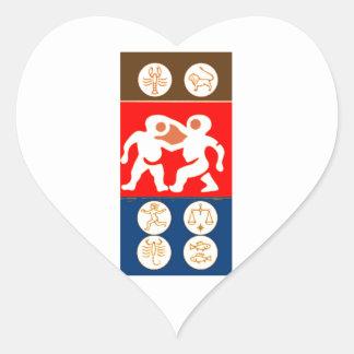 Buy to DISPLAY n ENJOY : ZODIAC ART SYMBOLS Heart Sticker