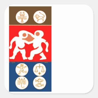 Buy to DISPLAY n ENJOY : ZODIAC ART SYMBOLS Square Sticker