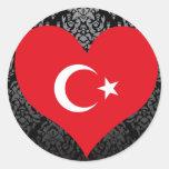 Buy Turkey Flag Round Sticker