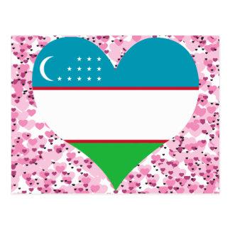Buy Uzbekistan Flag Postcard