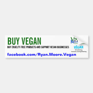 BUY VEGAN BUMPER STICKER