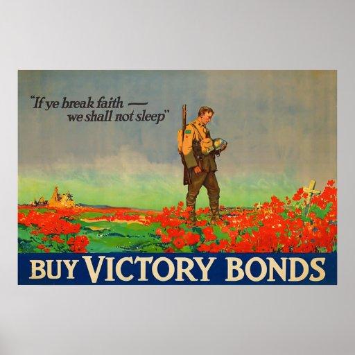 Buy Victory Bonds ~ Vintage World War 1.