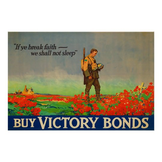 Buy Victory Bonds ~ Vintage World War 1.