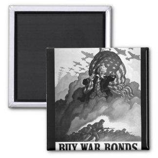 Buy War Bonds.  1942. Color_War image Square Magnet