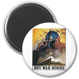 Buy War Bonds! 6 Cm Round Magnet