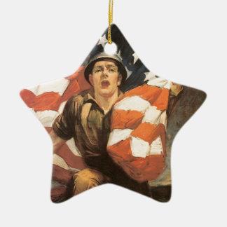 Buy war bonds ceramic star decoration
