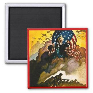 Buy War Bonds - Vintage World War II Square Magnet