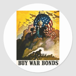 Buy War Bonds - Vintage World War II Round Sticker