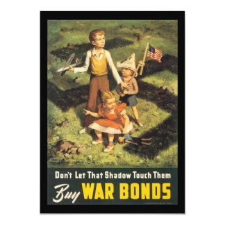 Buy War Bonds World War 2 Personalized Invites