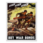 Buy War Bonds -- WW2 Propaganda Poster