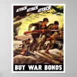 Buy War Bonds -- WW2 Propaganda Poster