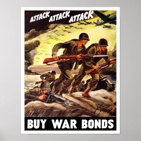 Buy War Bonds Ww2 Propaganda Poster Zazzle Co Uk