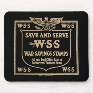 Buy War Savings Stamps Vintage World War I Mouse Pad