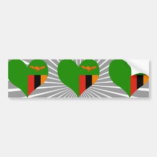 Buy Zambia Flag Bumper Sticker