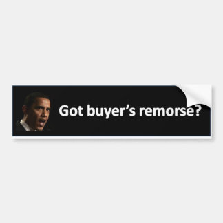 buyer's remorse bumper sticker