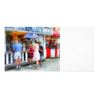 Buying Ice Cream at the Fair Photo Card Template