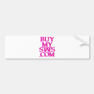 BuyMyStats com 3D Logo Pink w Maroon Shadow Bumper Stickers
