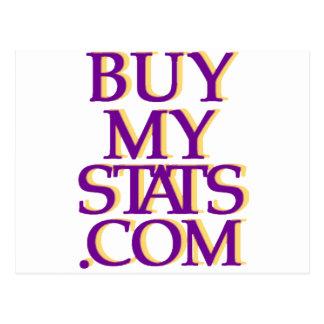 BuyMyStats.com 3D Logo Purple w/ Yellow Shadow Post Cards