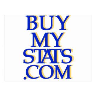 BuyMyStats.com 3D Logo Royal Blue w/ Yellow Shadow Postcard