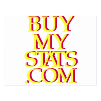 BuyMyStats.com 3D Logo Yellow w/ Red Shadow Post Cards