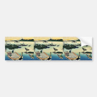 Buyo tsukuda jima by Katsushika, Hokusai Ukiyoe Bumper Sticker