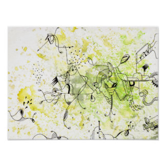 buzz abstract drawing poster