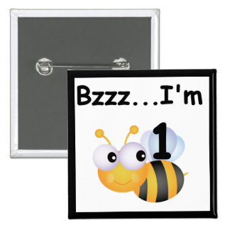 Buzz Bumblebee 1st Birthday T-shirts and Gifts 15 Cm Square Badge