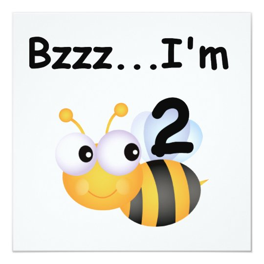 Buzz Bumblebee 2nd Birthday T-shirts and Gifts Card