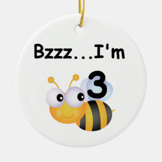 Buzz Bumblebee 3rd Birthday T-shirts and Gifts Christmas Ornament