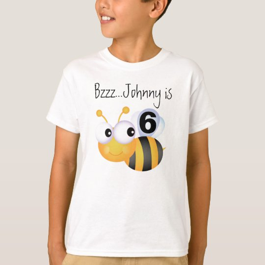 Buzz Bumblebee Customisable Birthday T-shirt