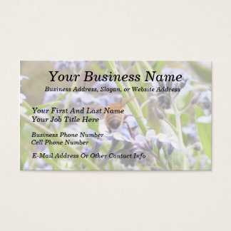 Buzz!  Busy Bee Backside Business Card
