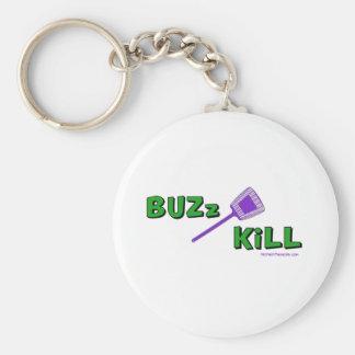Buzz Kill Basic Round Button Key Ring
