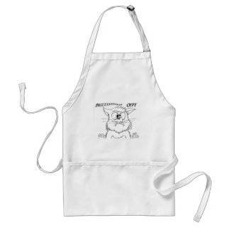 BUZZ OFF! Cat & Bee image. Aprons
