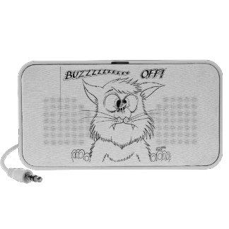 BUZZ OFF Cat Bee image iPod Speakers