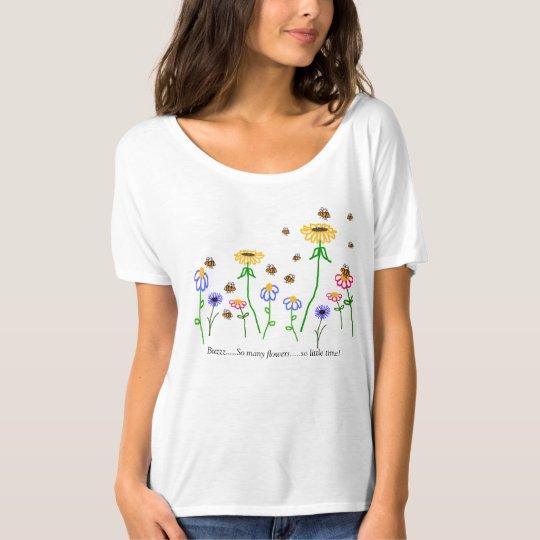 BuzzAboutBees Bee Garden Ladies' Flowy T-Shirt
