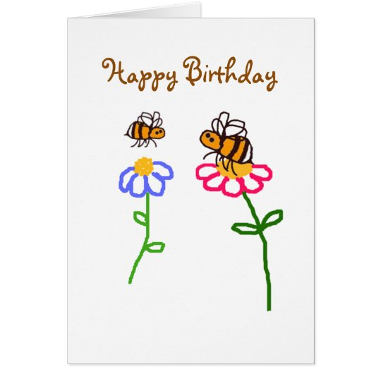 BuzzAboutBees Happy Birthday To You Card