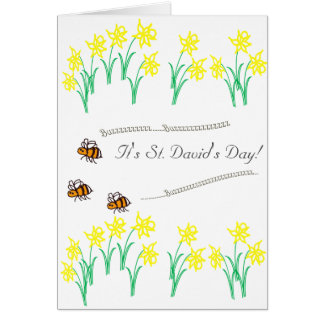 BuzzAboutBees Happy St David's Day Card