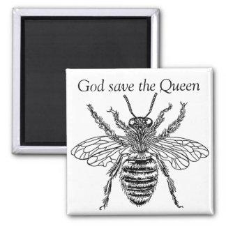 buzzart bee queen magnet