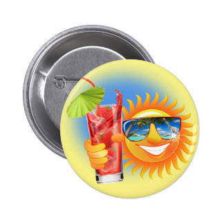 Buzzer Sun smiley 6 Cm Round Badge