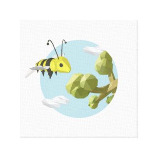 Buzzing all over gallery wrap canvas