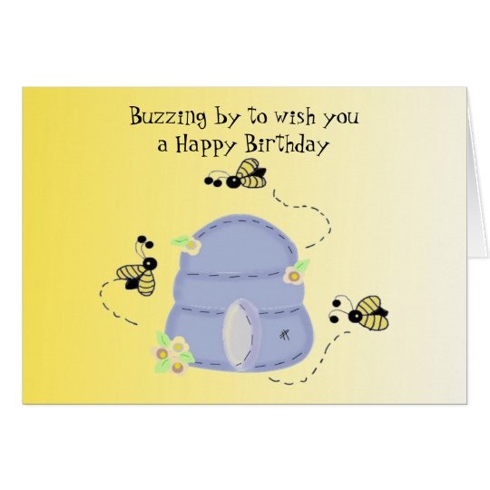 Buzzing Bee's Birthday Wishes Card