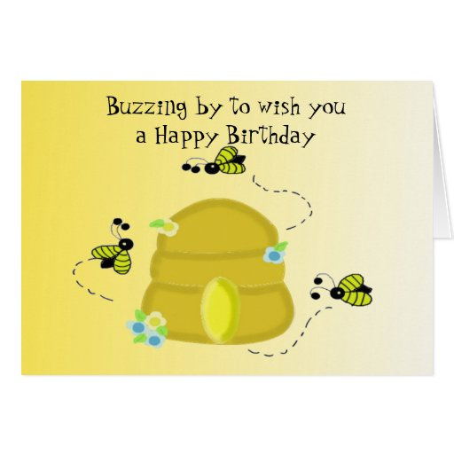 Buzzing Bee's Birthday Wishes Greeting Card