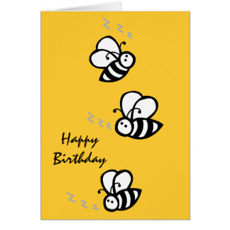 Buzzing Bees Greeting Card