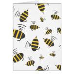 Buzzing Bumble Bee Cartoon Card